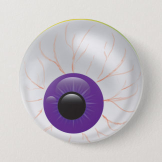 Evil Purple Zombie 3D Eye Halloween Eyeball Button