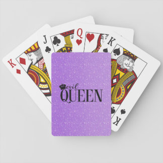 EVIL QUEEN Crown Purple Glitter Glam playing cards
