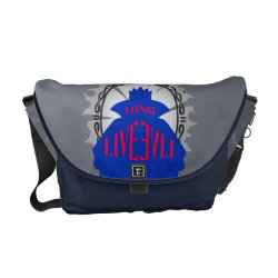 Rickshaw Medium Zero Messenger Bag with Evil Queen: Long Live Evil design