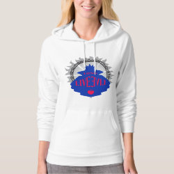 Women's American Apparel California Fleece Pullover Hoodie with Evil Queen: Long Live Evil design