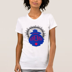 Women's American Apparel Fine Jersey Short Sleeve T-Shirt with Evil Queen: Long Live Evil design