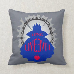 Cotton Throw Pillow with Evil Queen: Long Live Evil design
