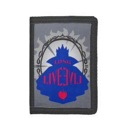 TriFold Nylon Wallet with Evil Queen: Long Live Evil design