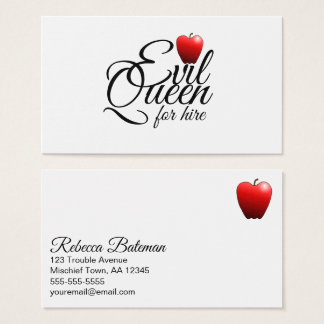 Evil Queen Small Apple Funny Business Card