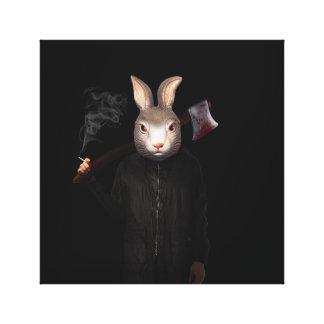 Evil Rabbit Canvas Print