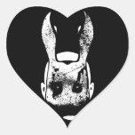 Evil Rabbit Heart Sticker