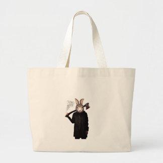 Evil Rabbit Large Tote Bag