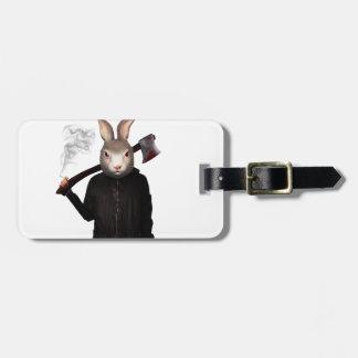Evil Rabbit Luggage Tag