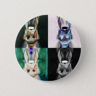 Evil Rabbit Pinback Button