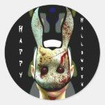 Evil Rabbit Round Stickers