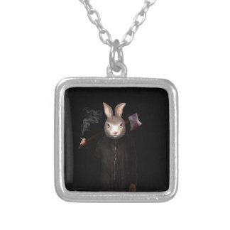 Evil Rabbit Silver Plated Necklace