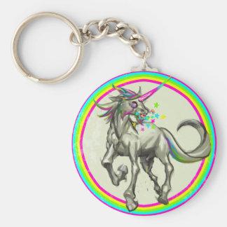 evil rabid unicorn with rabies keychain