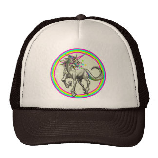 evil rabid unicorn with rabies trucker hat