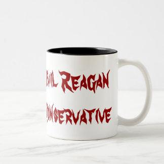 Evil Reagan Conservative Two-Tone Coffee Mug