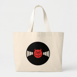 Evil Record Large Tote Bag