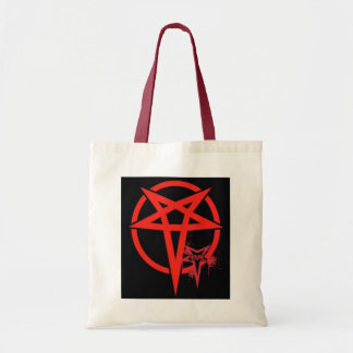 Evil Red Black Magic Pentagram Tote Bag