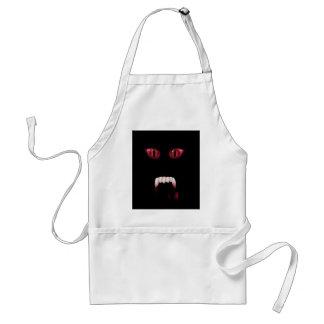 Evil Red Demon Eyes & Bloody Vampire Fangs Apron