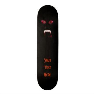 Evil Red Demon Eyes & Bloody Vampire Fangs Skate Deck