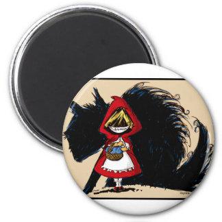 Evil Red Riding Hood Refrigerator Magnet