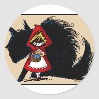 Evil Red Riding Hood Stickers