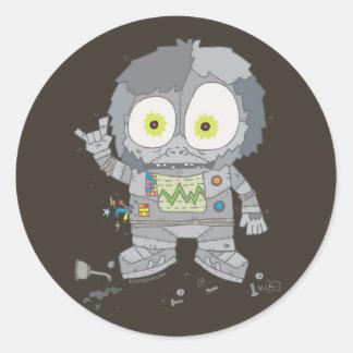 EVIL ROBO APE CLASSIC ROUND STICKER