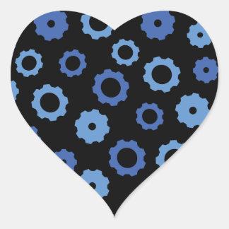Evil Robot Gears Heart Stickers