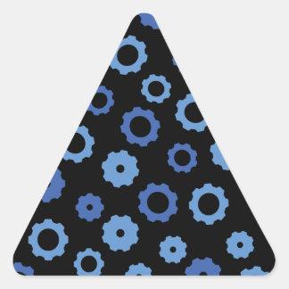 Evil Robot Gears Triangle Sticker