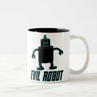 Evil Robot Two-Tone Coffee Mug