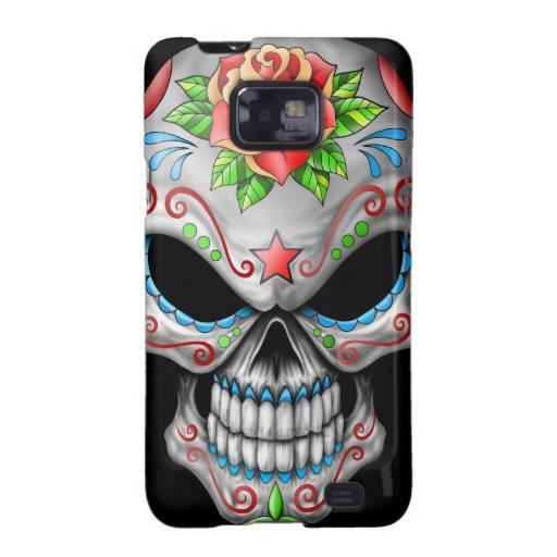Evil Rose Sugar Skull Samsung Galaxy SII Cover