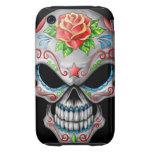 Evil Rose Sugar Skull Tough iPhone 3 Cases