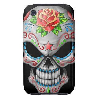 Evil Rose Sugar Skull Tough iPhone 3 Cover