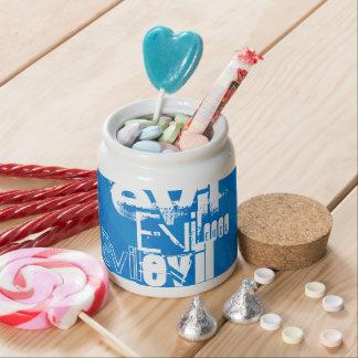 Evil; Royal Blue Stripes Candy Jars