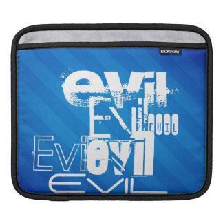 Evil; Royal Blue Stripes iPad Sleeve