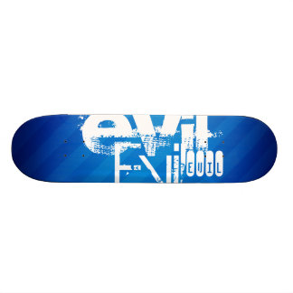 Evil; Royal Blue Stripes Skate Deck