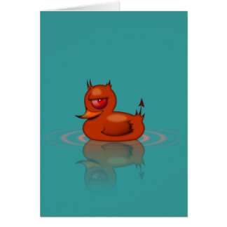Evil Rubber Duck Greeting Card