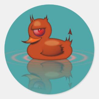 Evil Rubber Duck Classic Round Sticker