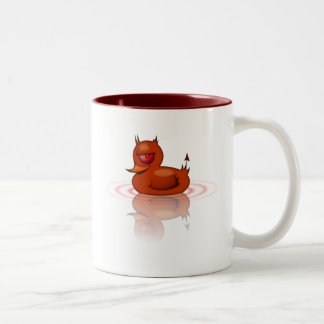 Evil Rubber Duck Two-Tone Coffee Mug