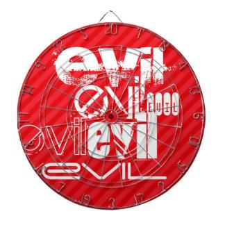 Evil; Scarlet Red Stripes Dart Board