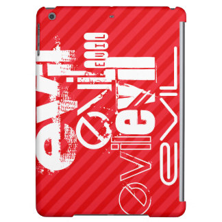 Evil; Scarlet Red Stripes iPad Air Cover