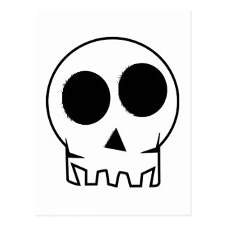 Evil scary and inky skull postcard