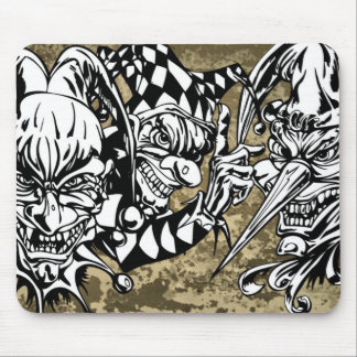 Evil, Scary Clowns Mouse Pad