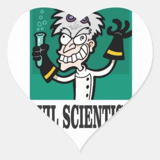 evil scientist heart sticker