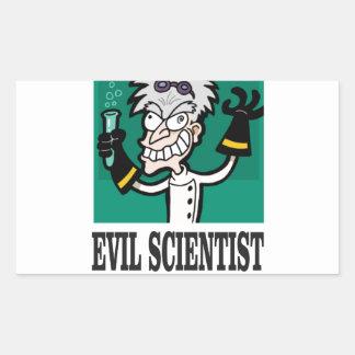 evil scientist rectangular sticker
