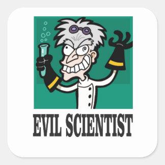 evil scientist square sticker