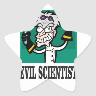 evil scientist star sticker