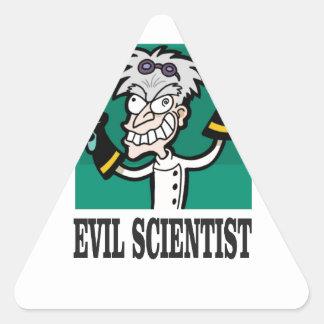 evil scientist triangle sticker