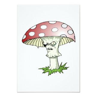 Evil Shroom 5x7 Paper Invitation Card