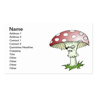Evil Shroom Business Card Template
