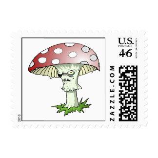 Evil Shroom Postage Stamp