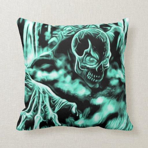 Evil Skeleton Throw Pillow